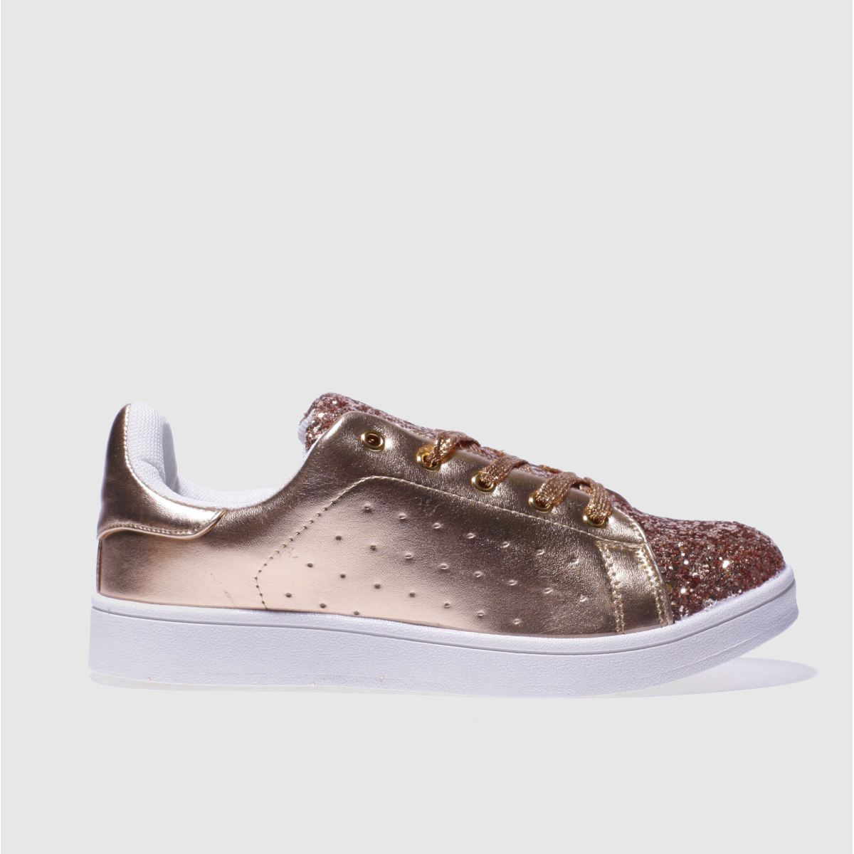 schuh rose gold miracle trainers