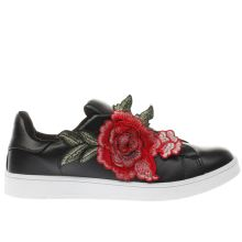Schuh Black & White Damask Womens Trainers