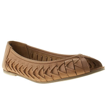 womens schuh tan cupcake flat shoes