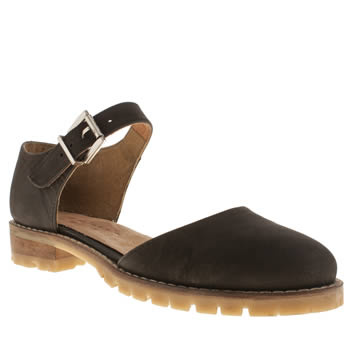 womens schuh black commitment flat shoes