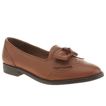Womens Schuh Tan Honey Bee Flats