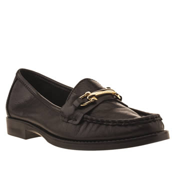 womens schuh black lounge around flat shoes