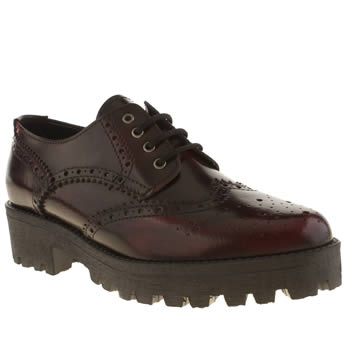 Womens Schuh Burgundy Lesson Flats