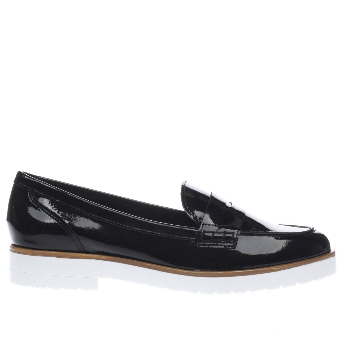 schuh black & white sphere flat shoes