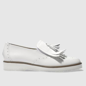 Schuh White Hunky Dory Womens Flats