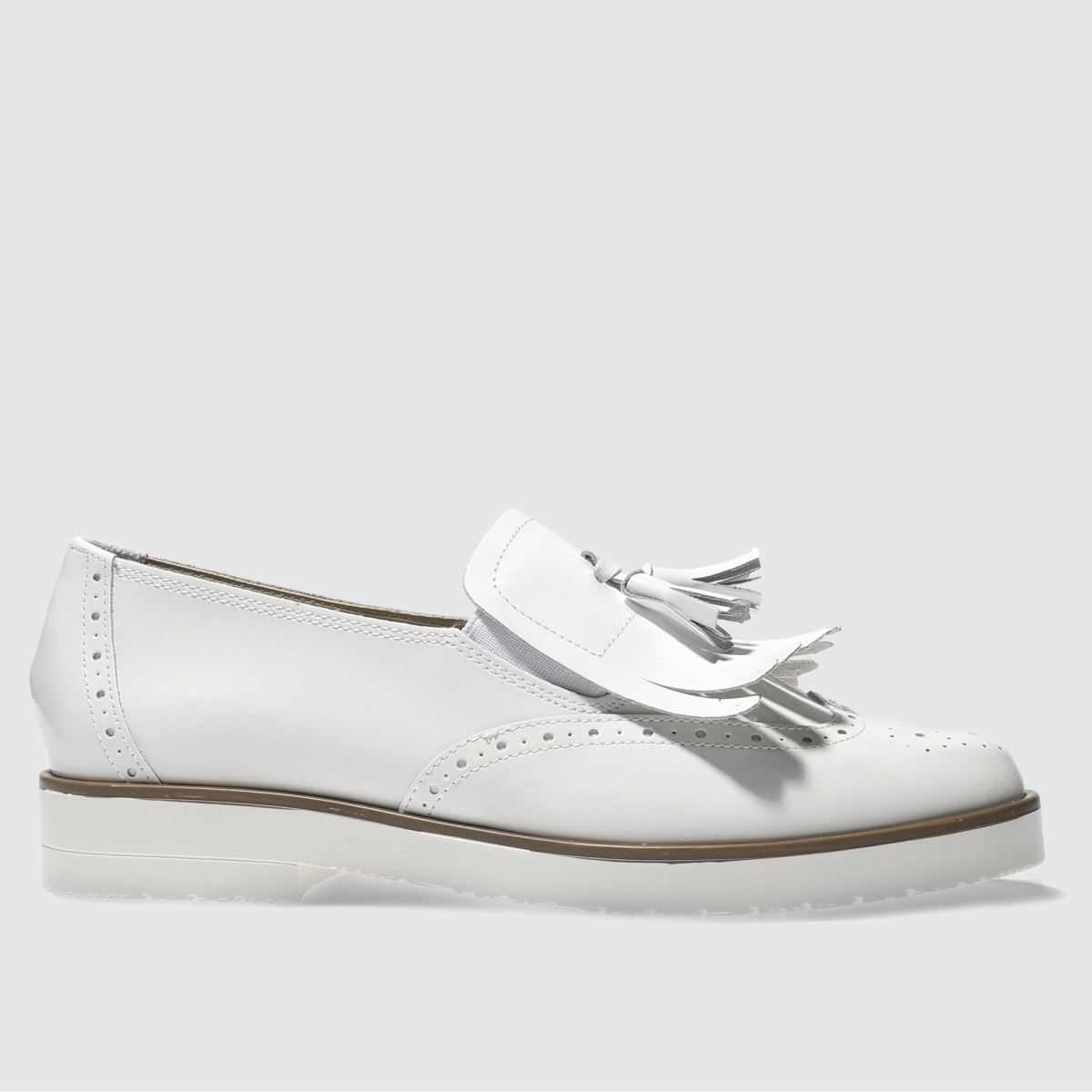 Schuh White Hunky Dory Flat Shoes