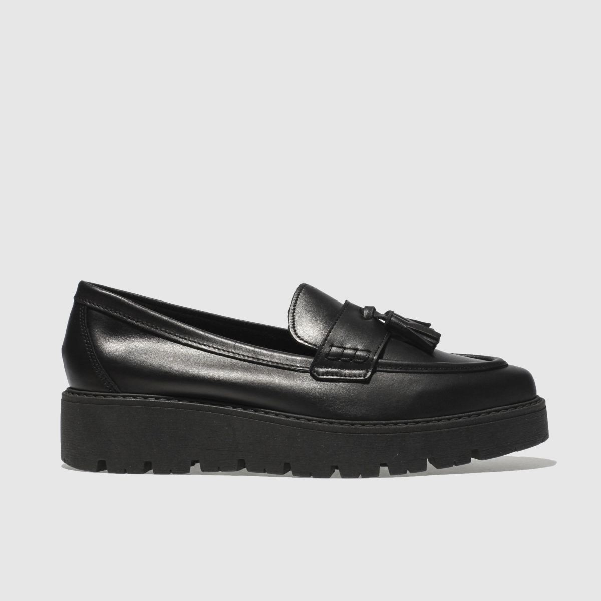 Schuh Black Stroller Flat Shoes