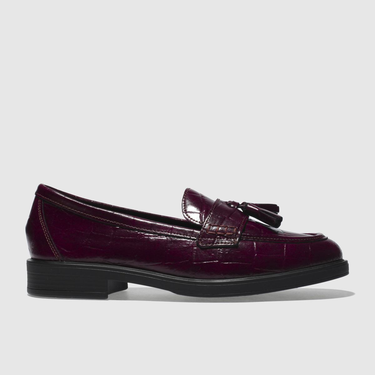 Schuh Burgundy Snappy Flat Shoes