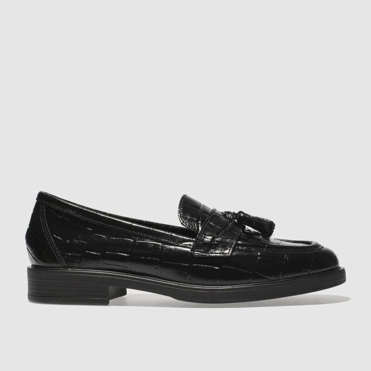 Schuh Black Snappy Flat Shoes