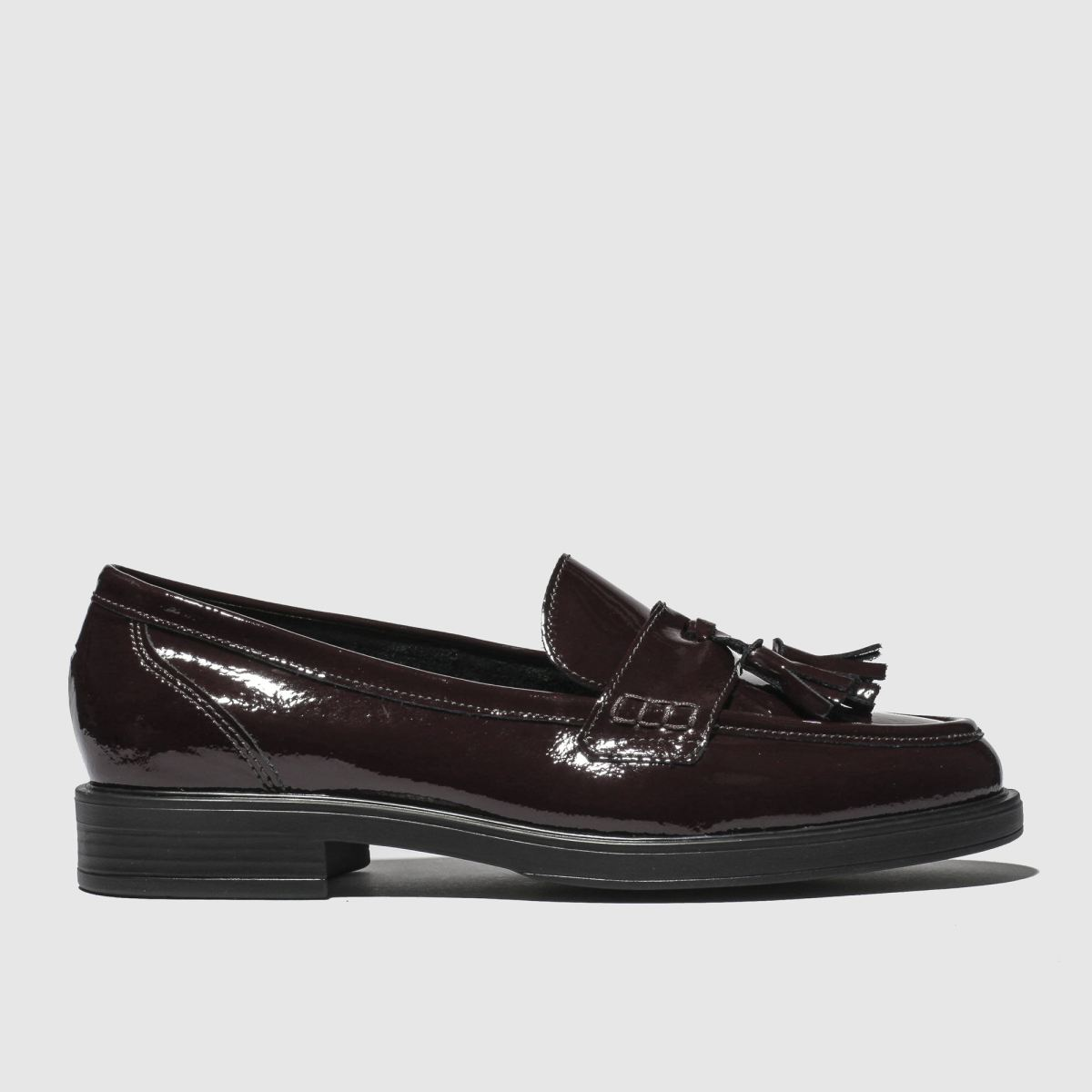 schuh Schuh Burgundy Happiness Flat Shoes