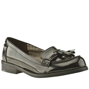 womens schuh black seth tassel loafer flat shoes