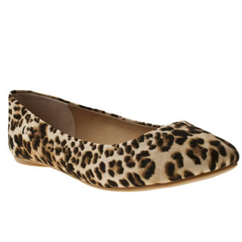 Womens Schuh Beige & Brown Ever After Flats