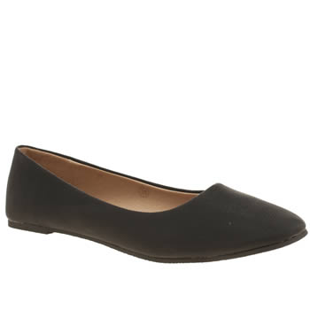 SCHUH BLACK CHERISH FLAT SHOES