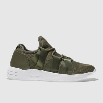 Schuh Khaki Distraction Womens Trainers