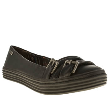Womens Blowfish Black Okie Flats