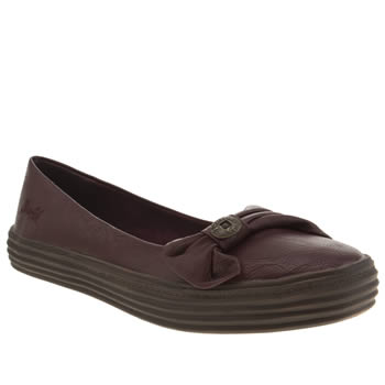Womens Blowfish Burgundy Open Flats