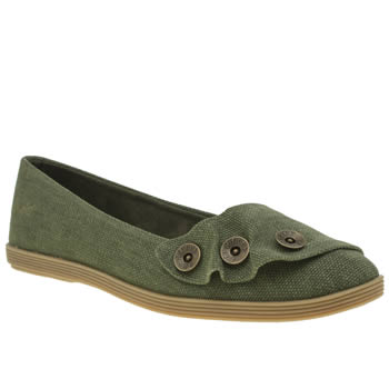 Blowfish Khaki Garamel Womens Flats