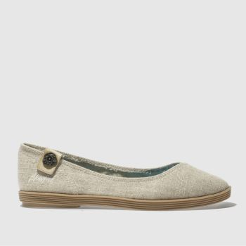 Blowfish Natural Gian Linen Womens Flats
