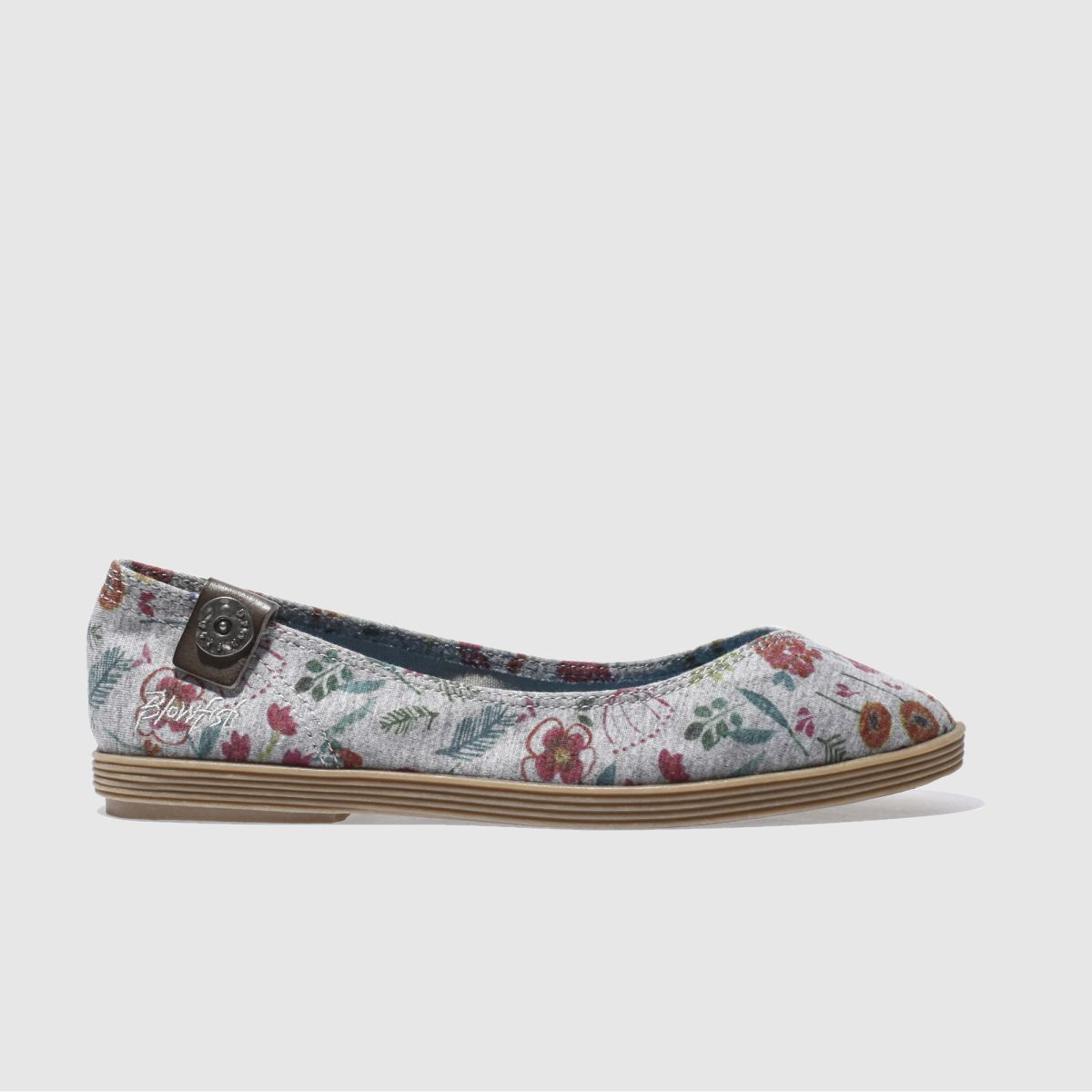 Blowfish Grey Gian Poppyfields Flat Shoes