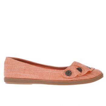 Blowfish Orange Garden Linen Womens Flats