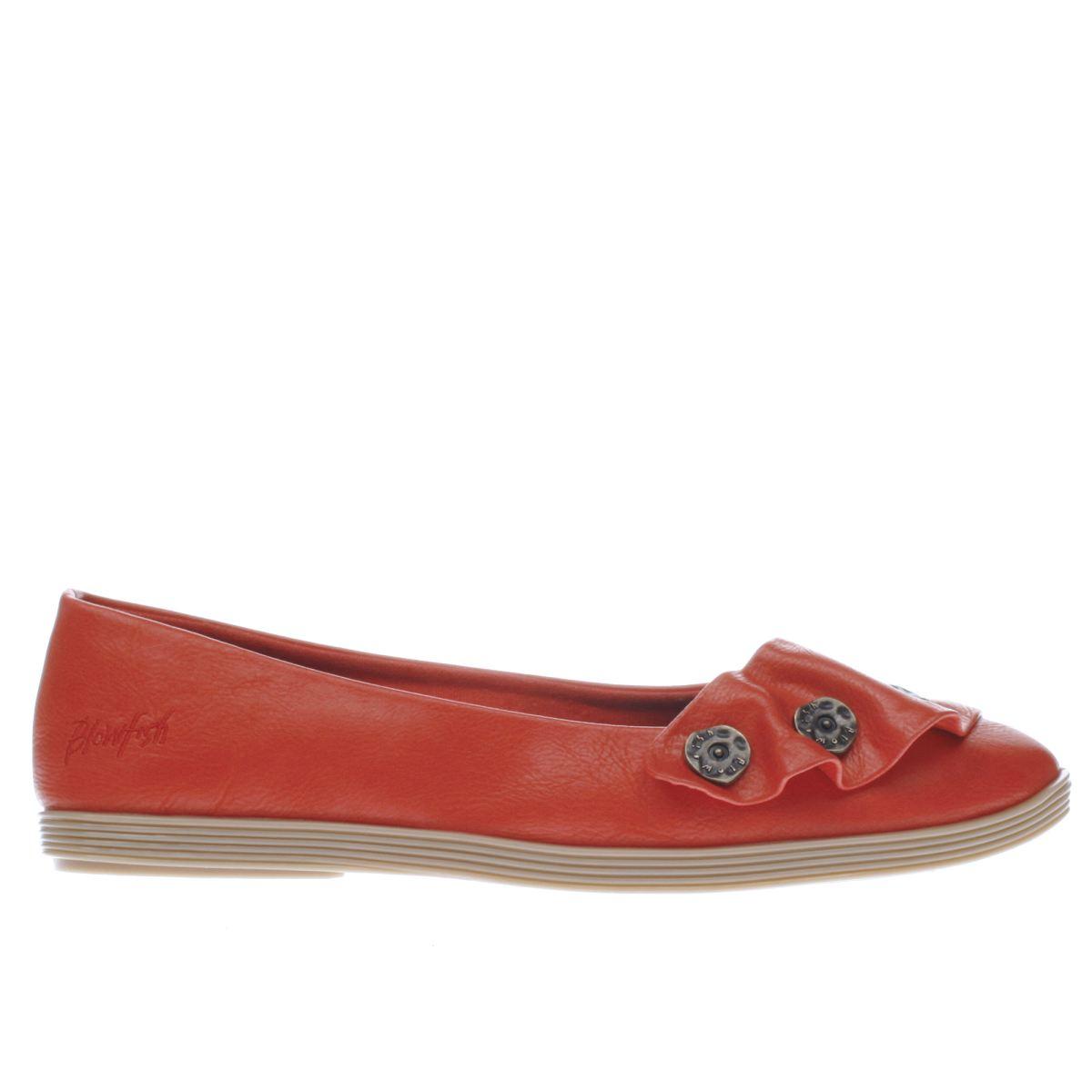 blowfish red garden flat shoes