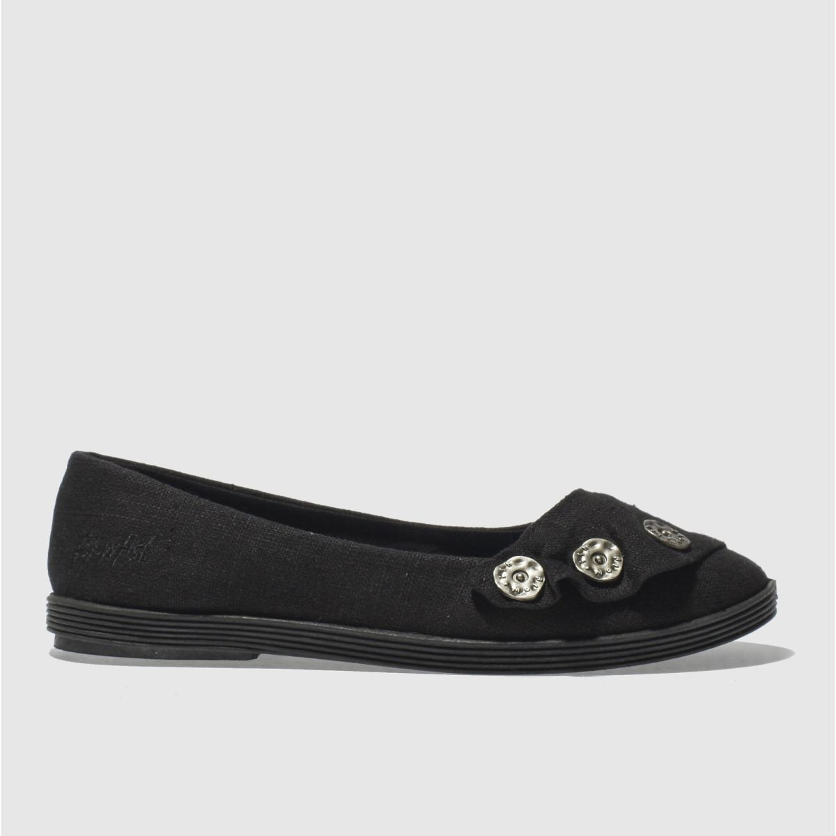 Photo of Blowfish black garden linen flats