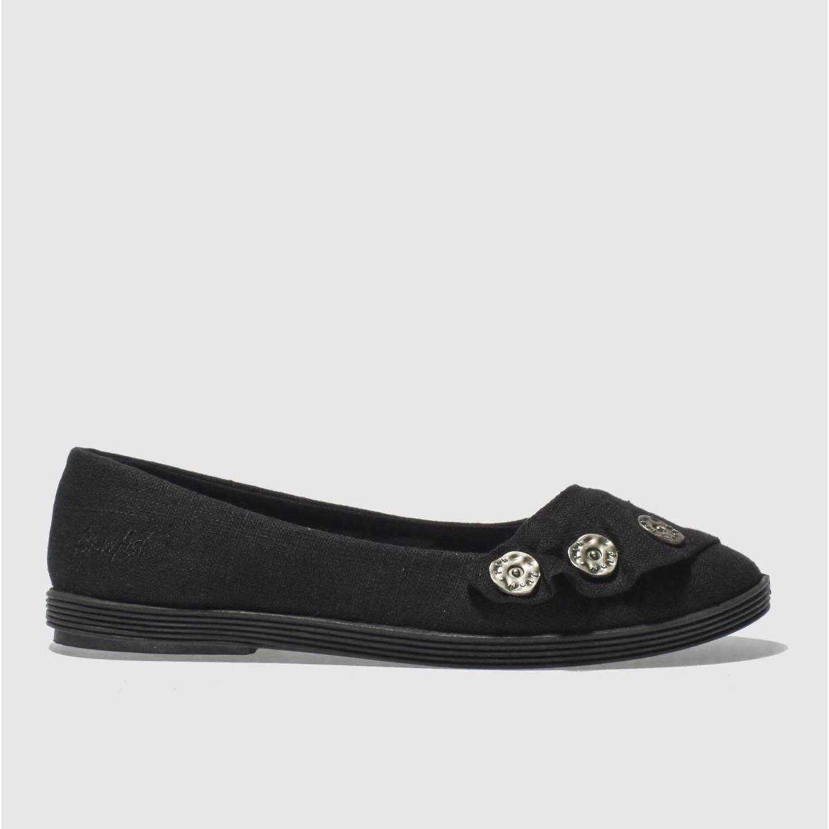 blowfish black garden linen flat shoes