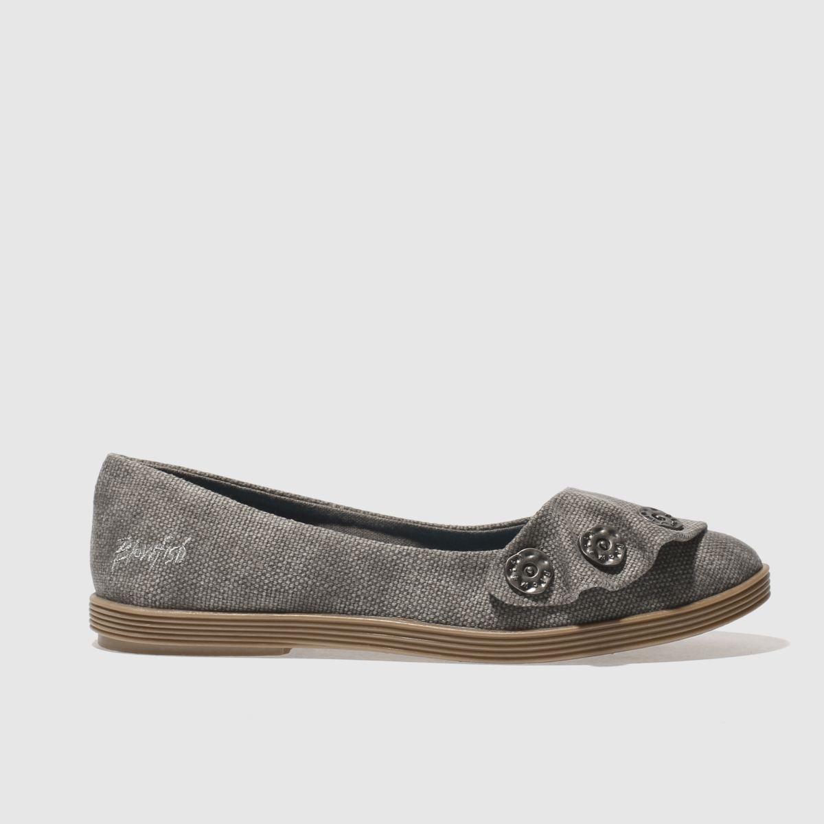 blowfish dark grey garden flat shoes