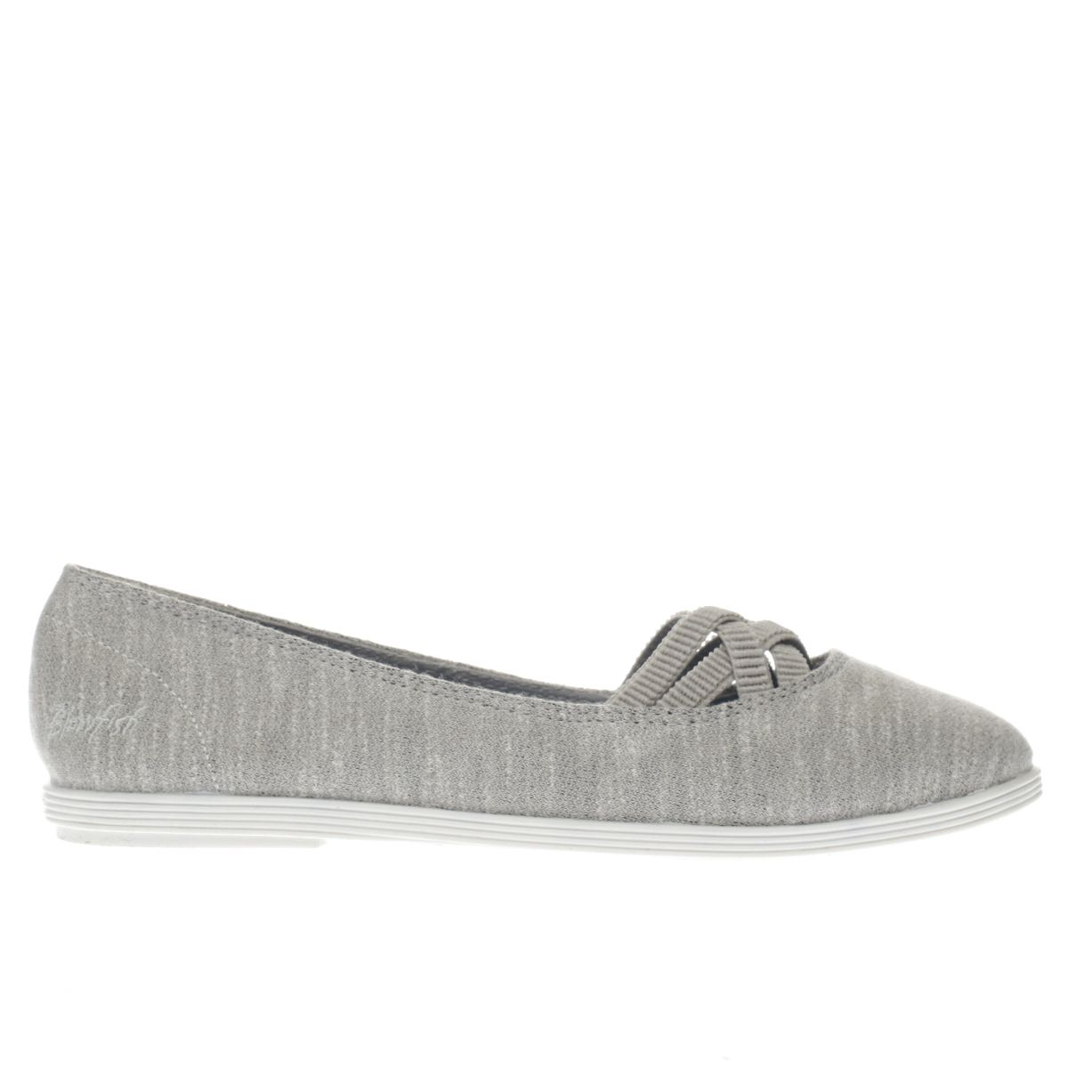 blowfish light grey grover jersey flat shoes