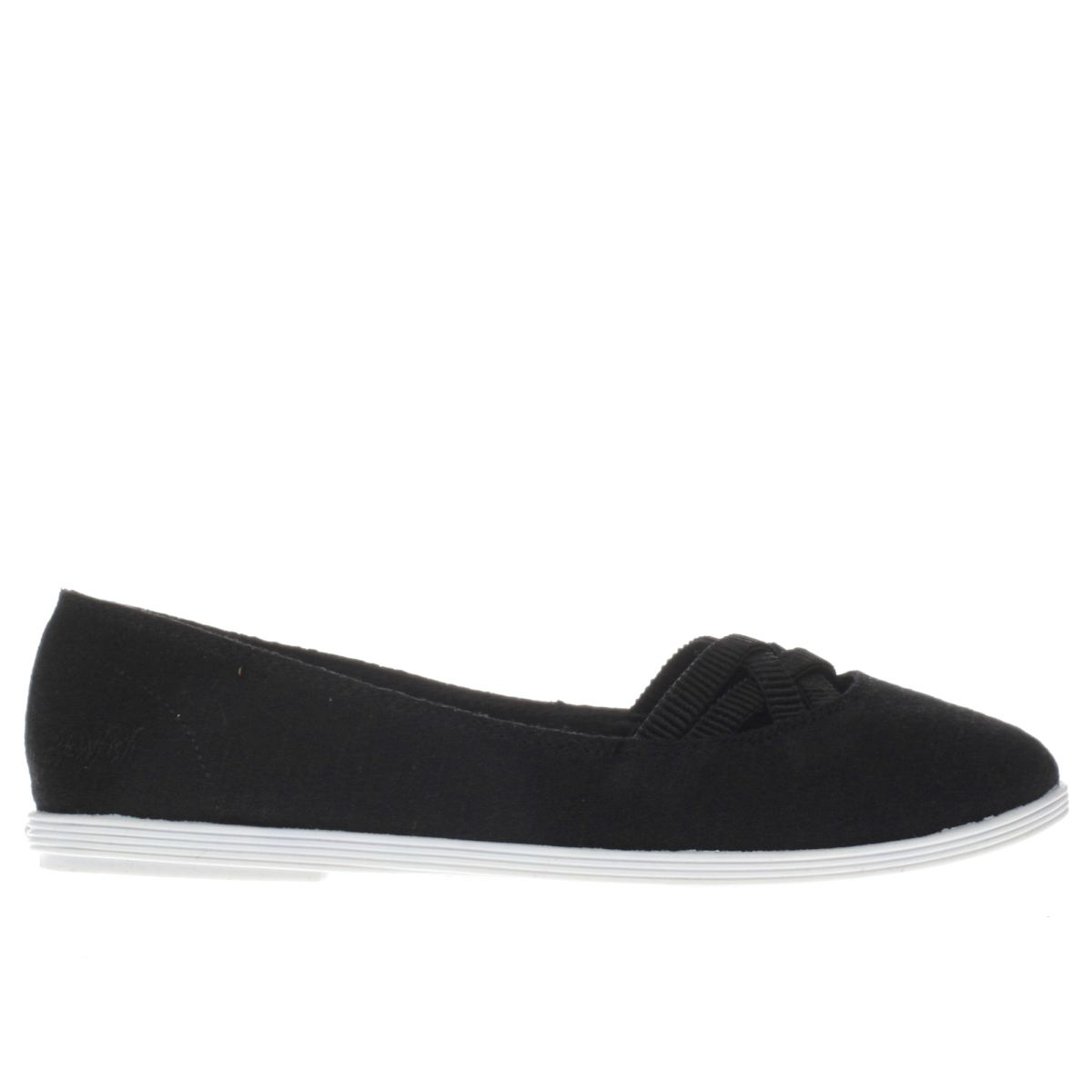 blowfish black grover jersey flat shoes