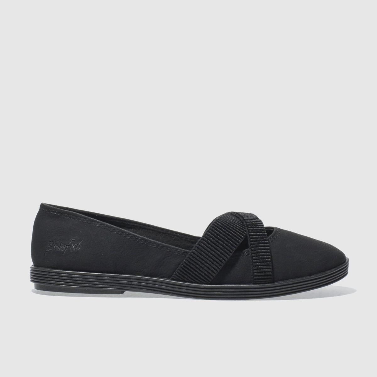 blowfish black gabie flat shoes