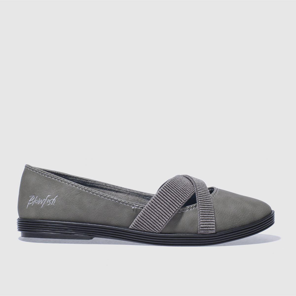 blowfish dark grey gabie flat shoes