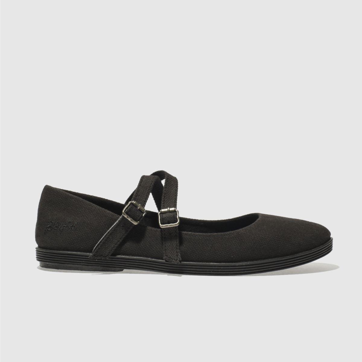 blowfish black gilty flat shoes