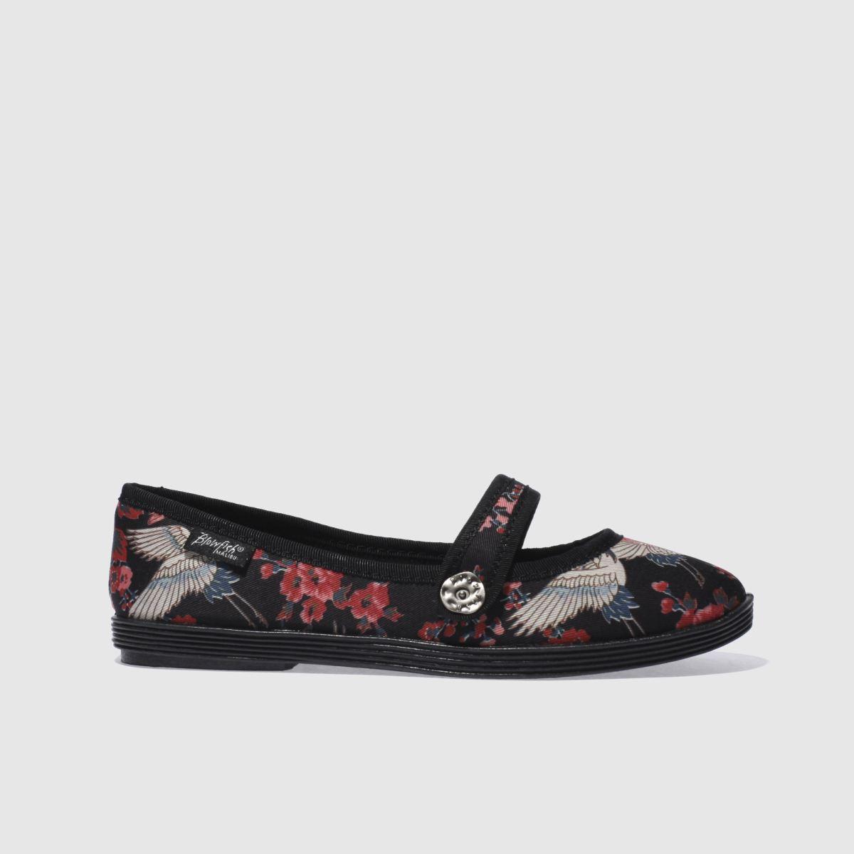 blowfish black & red goji haiku flat shoes