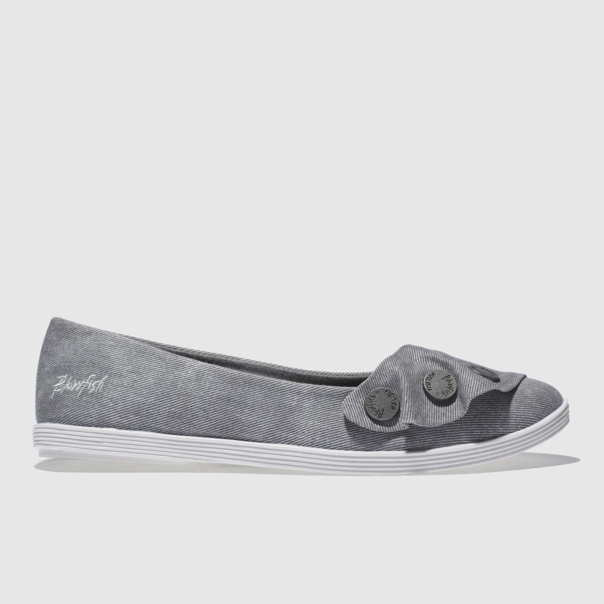 Blowfish Grey Galena Flat Shoes