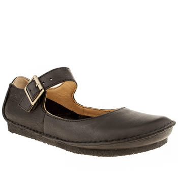 womens clarks originals black faraway feel flat shoes