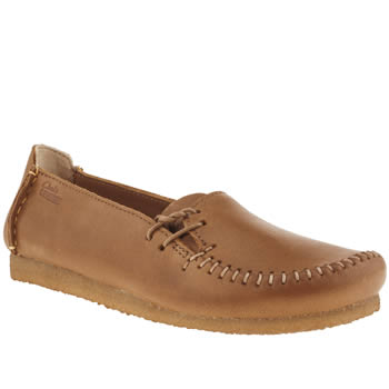 womens clarks originals tan faraway charm flat shoes
