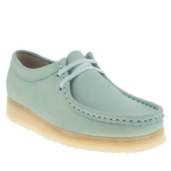Clarks Originals Pale Blue Wallabee Womens Flats