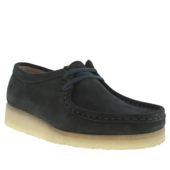 Clarks Originals Navy Wallabee Flats