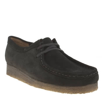Clarks Originals Black Wallabee Womens Flats