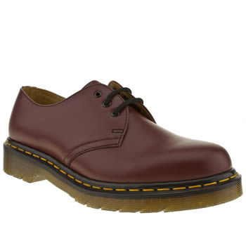 womens dr martens burgundy 1461 shoe flat shoes