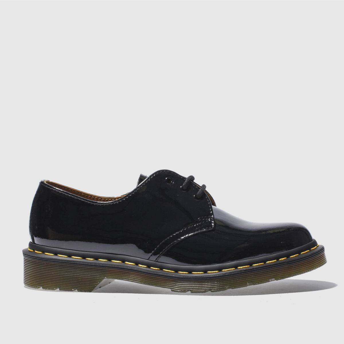 dr martens black 1461 flat shoes