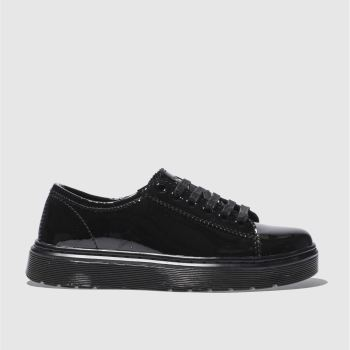 Womens Dr Martens Black Lyric Spin Lace Shoe Patent Flats