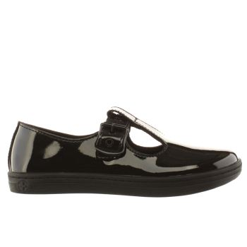 Dr Martens Black Eclectic Woolwich T-bar Womens Flats