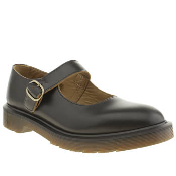 Womens Dr Martens Black Indica Mary Jane Flats