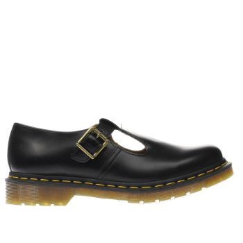 Womens Dr Martens Black Polley T-bar Flats