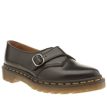 Dr Martens Black Agnes Pointed Monk Shoe Flats