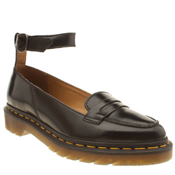Dr Martens Black Leonie Pointed Penny Loafer Flats