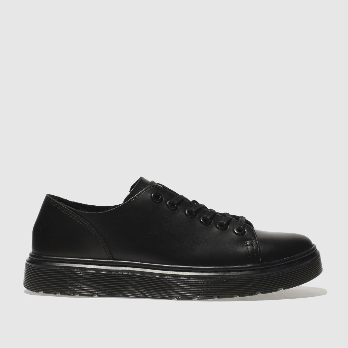 dr martens black dante 6 eye shoe flat shoes