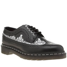 Dr Martens Black & White 3989 Lace Wingtip Womens Flats